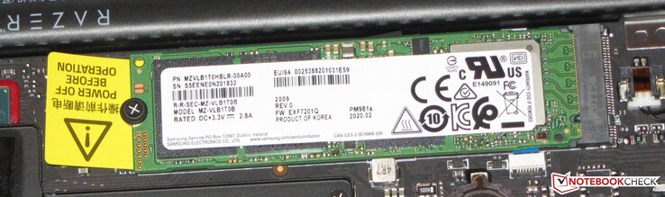 An NVMe SSD serves as the system drive.