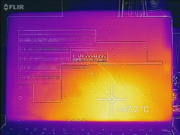 Thermal profile, top of unit