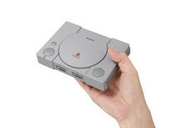 The PlayStation Classic is 45% smaller than the original console. (Source: Sony)