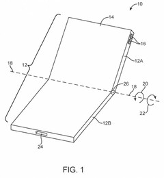 A fresh Apple patent shows it is still working hard on making a foldable smartphone. (Source: CNET/USPTO)