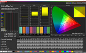 CalMAN: Colour accuracy – Normal colour profile, sRGB target colour space