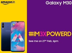 Samsung Galaxy M30 official launch flyer (Source: Samsung Mobile India on Twitter)