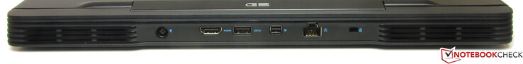 Rear side: power supply, HDMI, USB 3.2 Gen 1 (Type-A), Mini DisplayPort, Gigabit Ethernet, slot for a cable lock
