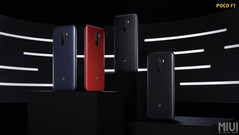 The Poco F1 will be available in Rosso Red, Steel Blue, Graphite Black, and the Armored Edition. (Source: Xiaomi)