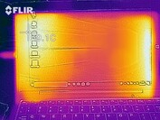 Heatmap of the top case at idle