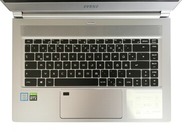 MSI P65 Creator 9SF - keyboard