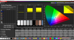 CalMAN ColorChecker pre-calibration (target color space P3)