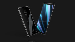 A render of what may possibly be the Sony Xperia XZ4. All image via @OnLeaks and MySmartPrice.