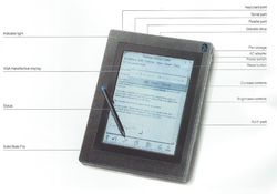 "The original ThinkPad: A ""small"" tablet computer. Image via 1000 BiT"