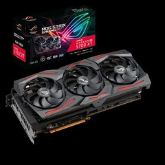 The ASUS ROG STRIX Radeon RX 6800 XT could offer a major upgrade over the current AMD flagship, the RX 5700 XT (Image source: ASUS)