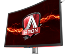 The AOC AG322QCX is an 1800R curved panel. (Source: AOC)