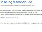 AT&T Locker service shutting down on August 3, 2017
