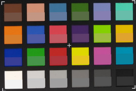 ColorChecker-Colors photograph. The lower half of each field represents the reference color.