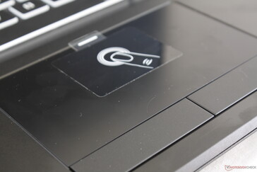 Fingerprint-enabled touchpad is smooth and more slippery than most other touchpads
