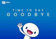 BBM for consumers is shutting down on MAy 31. (Source: BBM Blog)