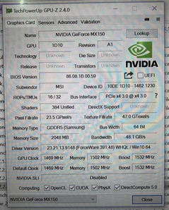 Fast 1D10 GeForce MX150