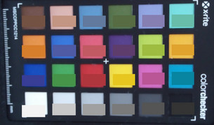 ColorChecker: The target color is in the lower half of each area.