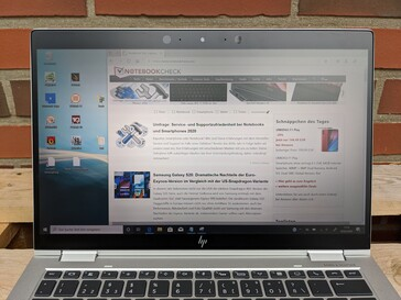 HP EliteBook x360 1030 G4 - outdoor use in the shade, no Sure View
