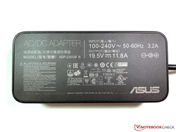 The ASUS ROG Strix Scar II GL704GW comes with a 230 W charger