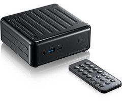Beebox J4205 comes equipped with a remote control and can act as a media center. (Source: ASRock)