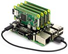 Combine 4 Raspberry Pi Zeros with a standard Raspberry Pi using the Cluster HAT v2.3. (Image source: Pimoroni)
