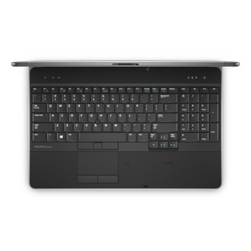 Dell Precision M2800 mobile workstation above/keyboard view