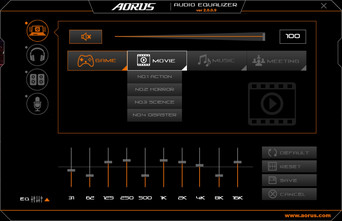 Aorus Audio Equalizer