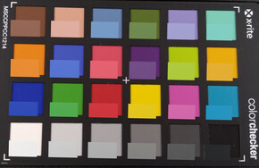 Color Checker. Reference color in the bottom half of each square