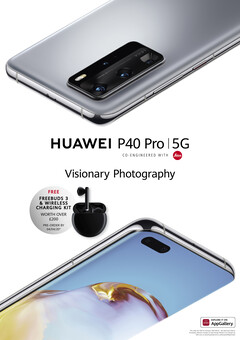 The Huawei P40 Pro 5G in almost all its Samsung-flavored glory. (Source: @evleaks, Twitter)
