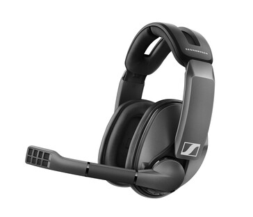 Sennheiser GSP 370 wireless gaming headset with microphone folded out (Source: Sennheiser)