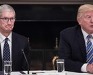 Donald Trump has been trying to convince Tim Cook to assemble iPhones in the USA. (Source: Sky News)