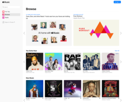Apple Music's new web interface is live. (Source: Apple)