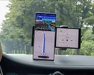 The LG Wing being used as in-car navigation. (Image source: Android Authority)