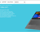 Screenshot of the product page on Lenovo's european site.