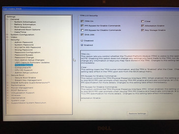 BIOS, Security settings