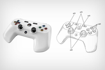 Google controller render and patent drawing. (Source: Yanko Design/Sarang Sheth)
