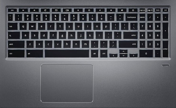 Keyboard, touchpad, and fingerprint reader