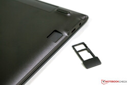 We already know the tray for the microSD and the Nano-SIM from smartphones.