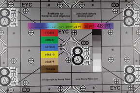 Photograph of test chart