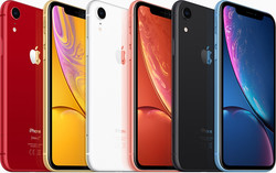 The iPhone XR's colour options