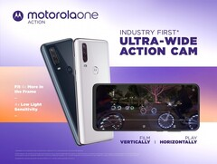 The Motorola One Action is now official. (Source: Motorola)