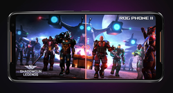 The Asus ROG Phone 2 features a 120Hz display. (Source: Asus)