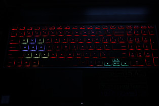 The 4-zone RGB backlight