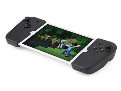 The removable Gamevice controllers on an iPad Mini. (Source: Gamevice)