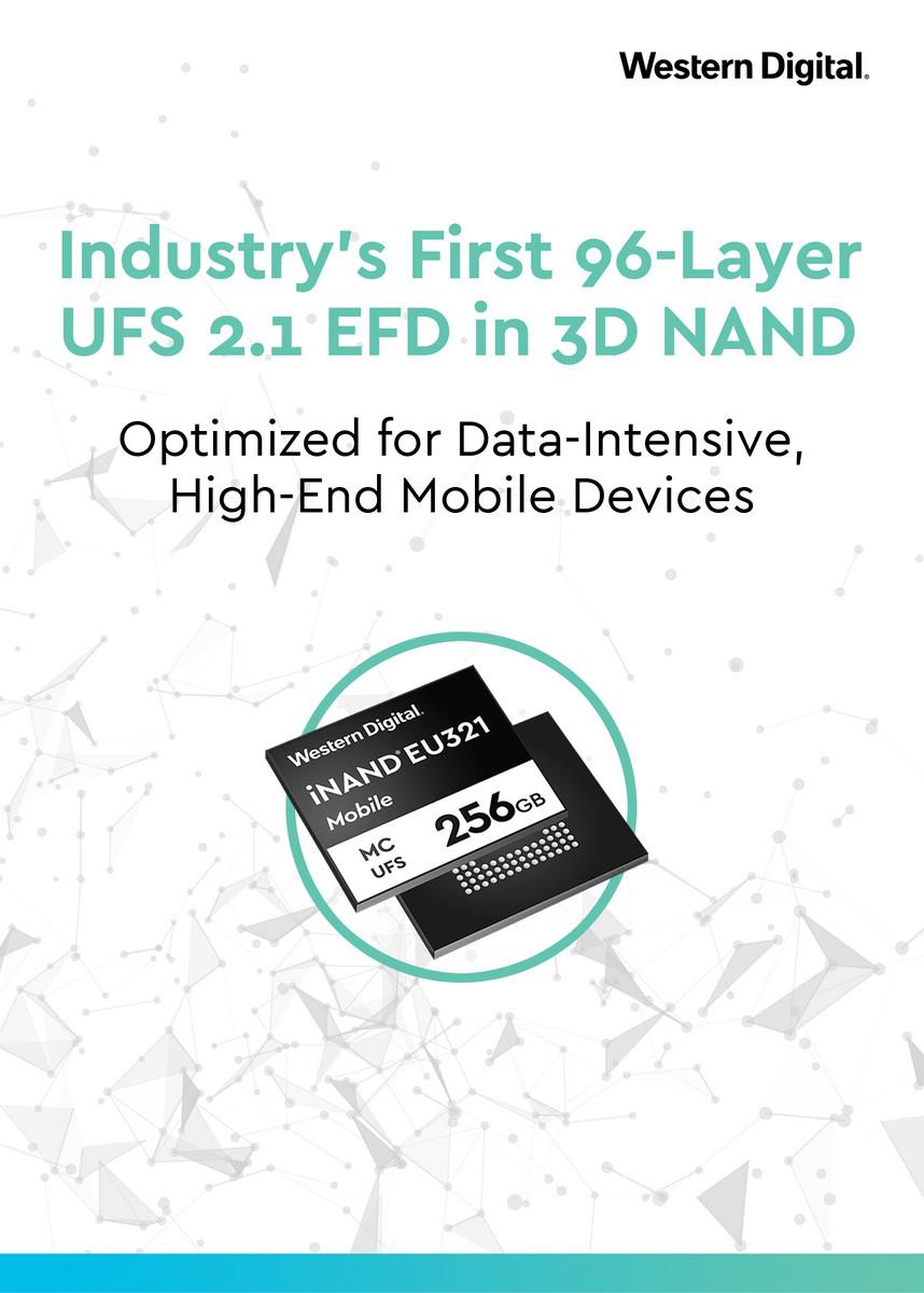 Western Digital now sampling world's first 96-layer 3D NAND UFS 2 1