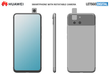 Both of the new alleged Huawei designs also benefit from displays with minimal bezels. (Source: LetsGoDigital)