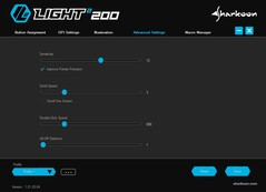 Sharkoon Light² 200 ultra light gaming mouse software - Advanced Settings