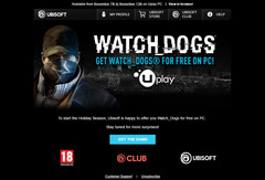 Watch Dogs for PC giveaway notification (Source: personal email)