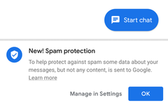 Google's Android Messages app now offers baked in spam blocking. (Source: Slashgear)