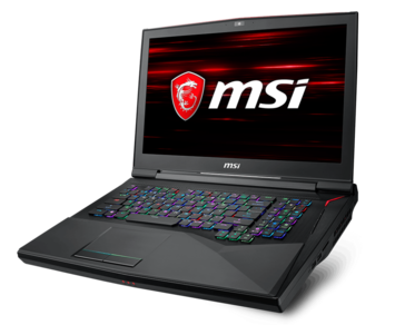 Front view of the GT75 Titan 8RG (Source: MSI)